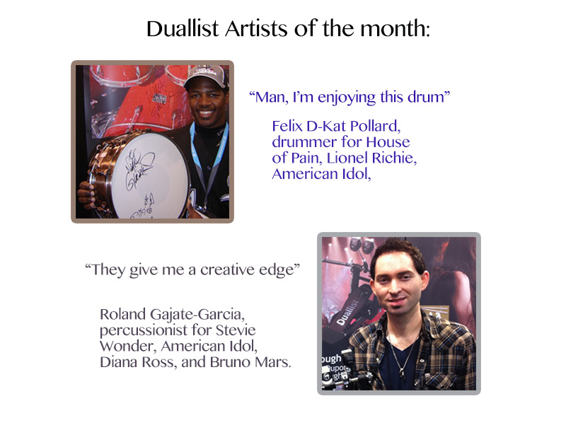 Duallist endorsees - professional drummers