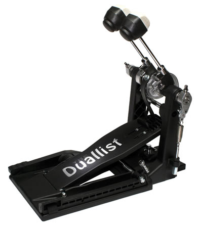 Duallist D4 - single drum pedal with double pedal power - click to change between single and double modes.