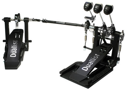 Duallist Bass Drum Pedal -Triple Pedal - Three Beaters!